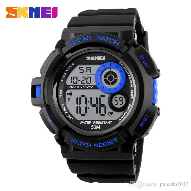SKMEI 1222 G Style Digital Watch S Shock Men Military Army Watch 50M Water Resistant Date Calendar LED Sports Watches Relogio Masculino