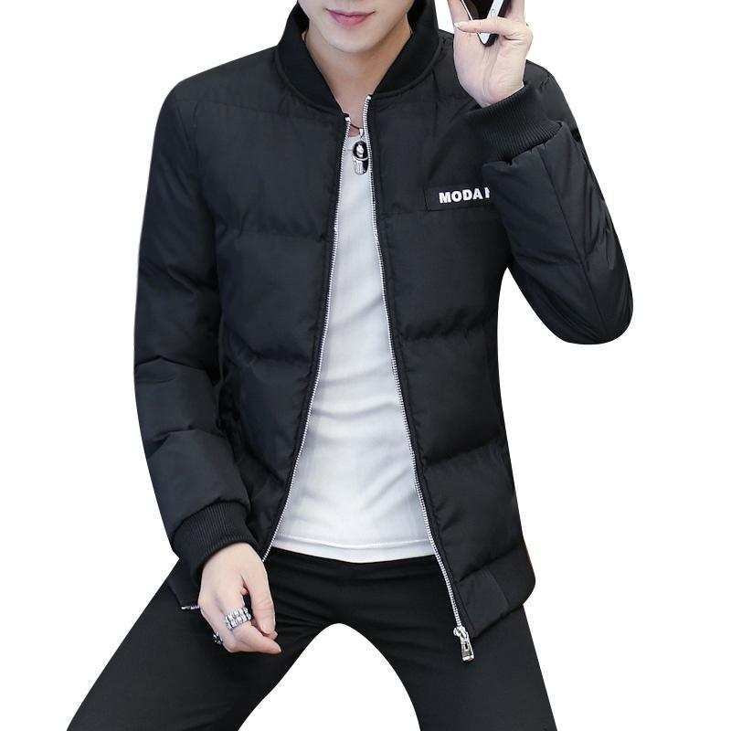 pretty nice a7c46 0c7c5 Snow coat men Fashion Lightweight Warm Parka Streetwear Casual Solid Stand  Collar Winter Jacket for Men M-4XL 812#