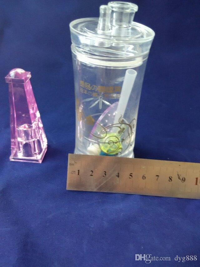 2018 Acrílico garrafa de água Por Atacado De Vidro Hookah, Vidro Acessórios Para Tubos De Água, Frete Grátis