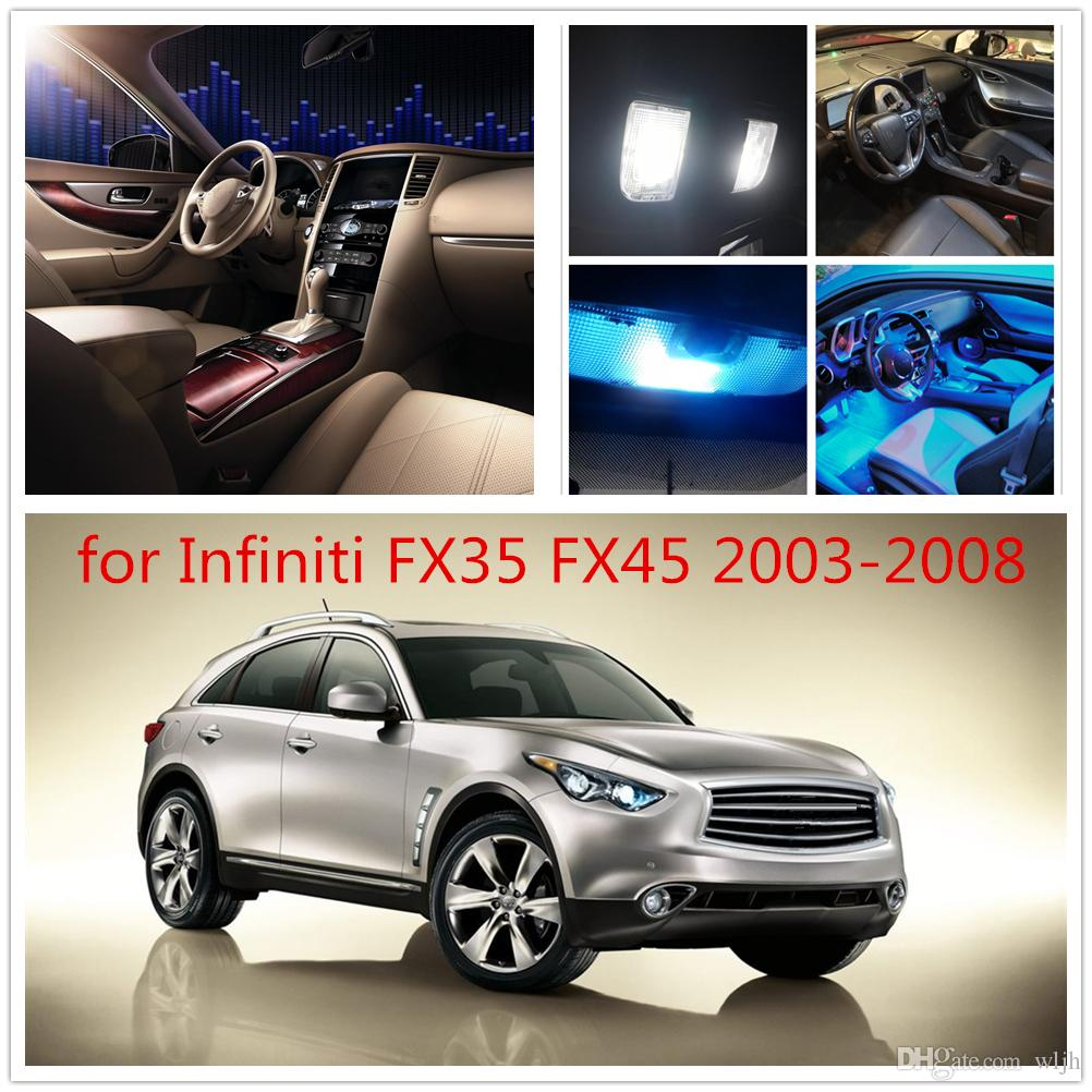 WLJH 11x 2835SMD Led Dome Map Trunk License Car Interior Light Package For  Infiniti FX35 FX45 2003 2004 2005 2006 2008 2007 Car LED Interior Lighting  For ...