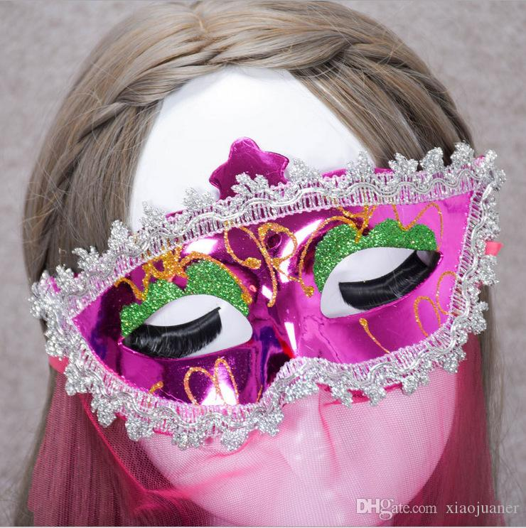 wholesale Veil mask Sexy Lace Mask Venetian Masquerade Ball Party Fancy Dress Costume Lady Gifts Party Masks Belly Dance Dress masquerade