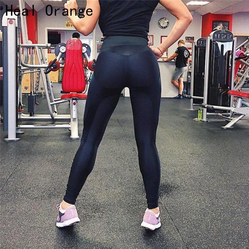76fce57f7fbb7 2018 Patchwork Push Up Running Tights Sport Leggings Women ...