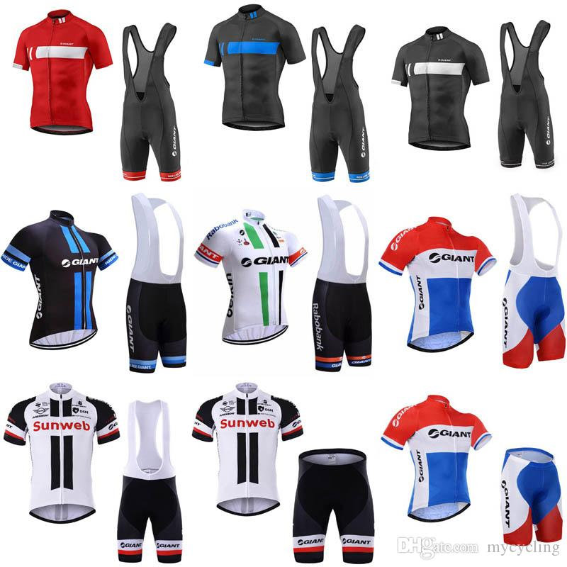 7d08267a3 2018 GIANT Cycling Jersey Set Racing Bicycle Cycling Clothing Maillot Ciclismo  Summer Quick Dry MTB Bike Clothes Sportswear C2902 Cycling Outfit Baggy ...