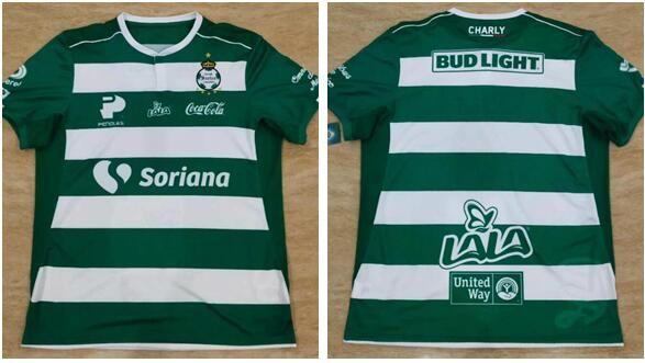 fa14505fa 2019 Size S XL LIGA MX 18 19 SANTOS LAGUNA DE TORREON LIGA MX Home SOCCER  JERSEY MARCA 2018 MANGA LARGA CHIVAS Tigres Football Shirts From Tiao1985