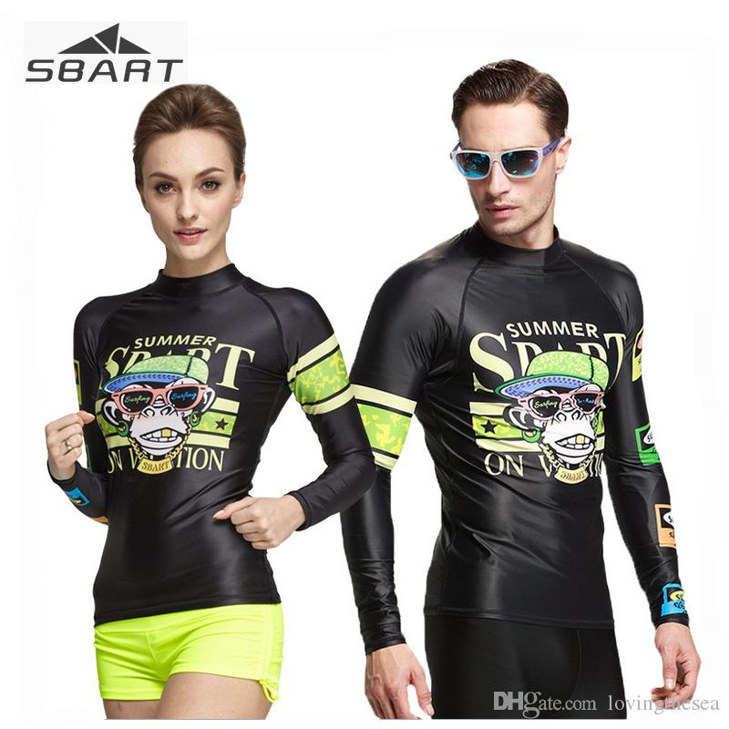 596751547e02 SBART Men Women Digital Sunscreen Rash Guard Long Sleeve Quick Dry ...