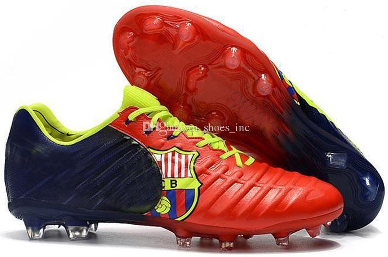2018 جديد وصول تيمبو السابع أسطورة fg 7 cr7 أحذية ل جودة عالية أبيض أسود برتقالي أحمر أخضر الرجال النساء كرة القدم أحذية حجم 36-45