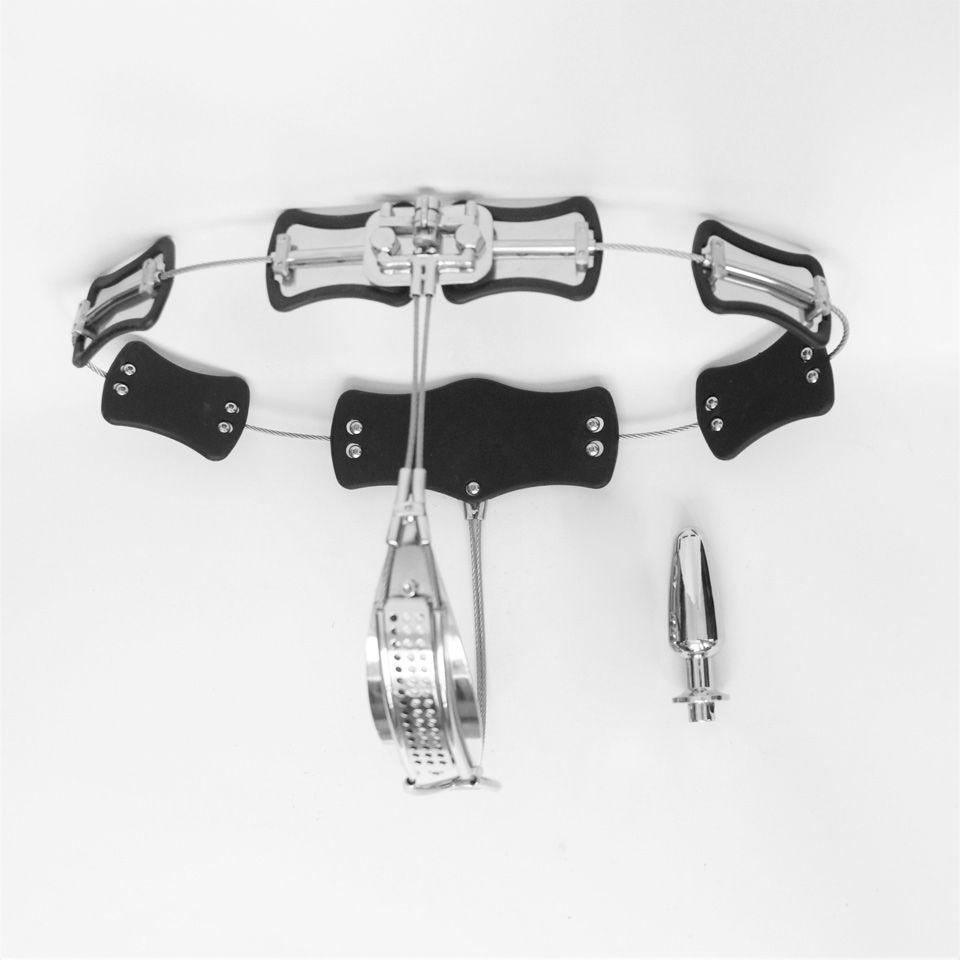 53e47ae588739 Compre Cinturón De Castidad Femenino De Acero Inoxidable De Tamaño  Ajustable