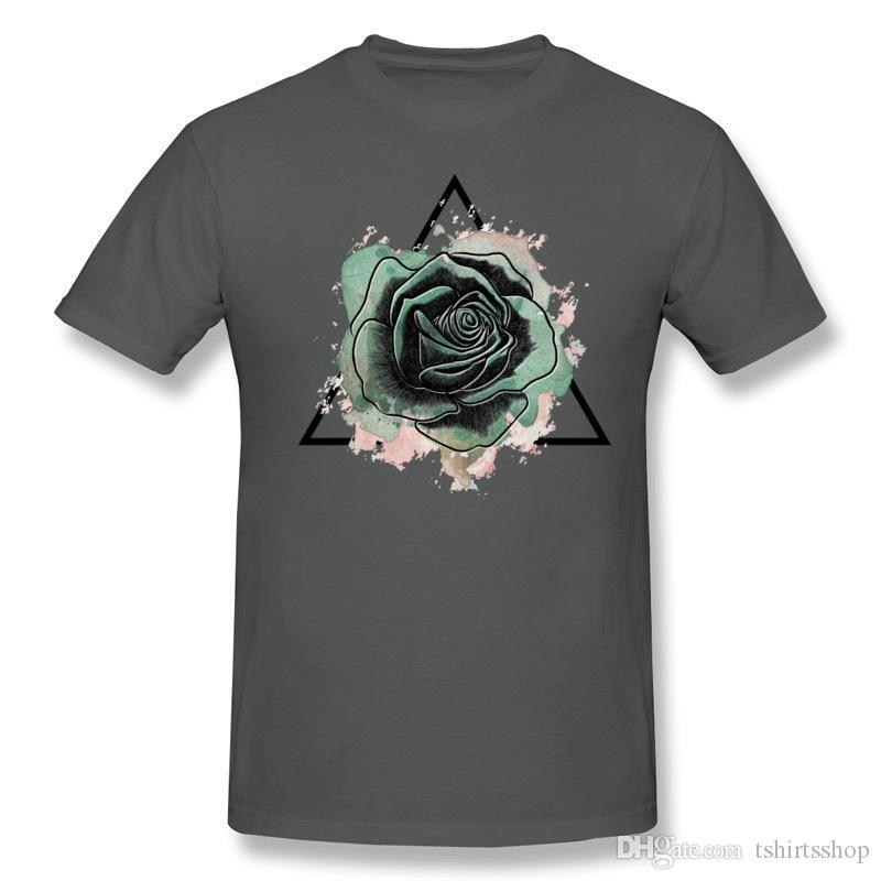 Mix Sipariş Yetişkin Saf pamuk Melankoli Tişörtlerin Yetişkin O-Boyun Gri Kısa Kollu T-Shirt S-6XL Tasarım Tee Gömlek