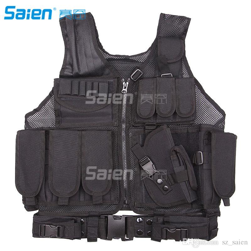 Fishing Vests/Tactical Vest Outdoor Ultra-light Breathable Combat Training Vest Adjustable For Adults 800D Encryption Polyester