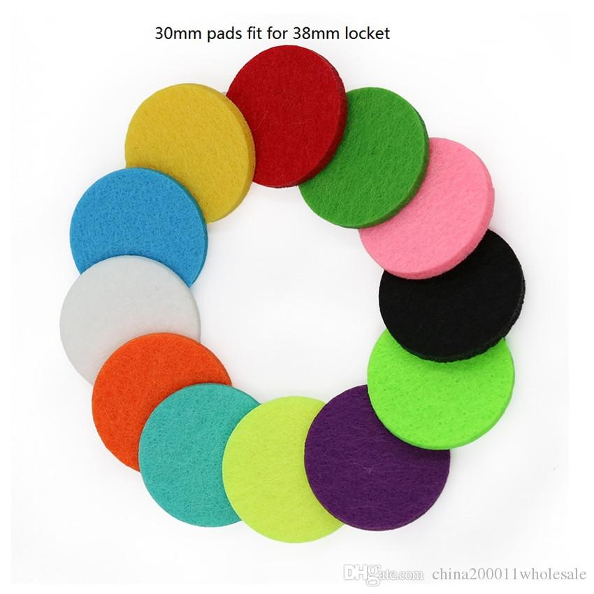 round heart water drop shape felt pads 5 kinds size fit for car diffuser locket vent clip aroma perfume locket pendant