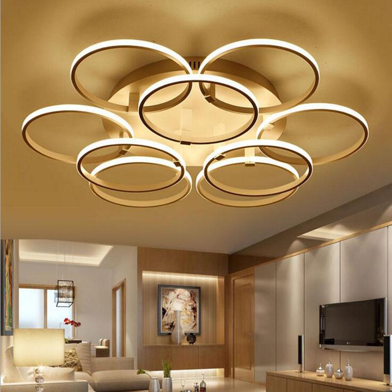 Simple and modern living room LED ring ceiling lamp bedroom aluminum lamp  led lighting fixture Acrylic lamps for bedroom