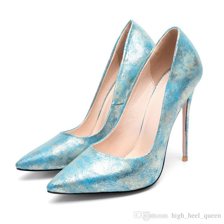 8caa6fb58825 Shiny Glitter PU Leather Woman Pumps Wedding Party Club Casual ...