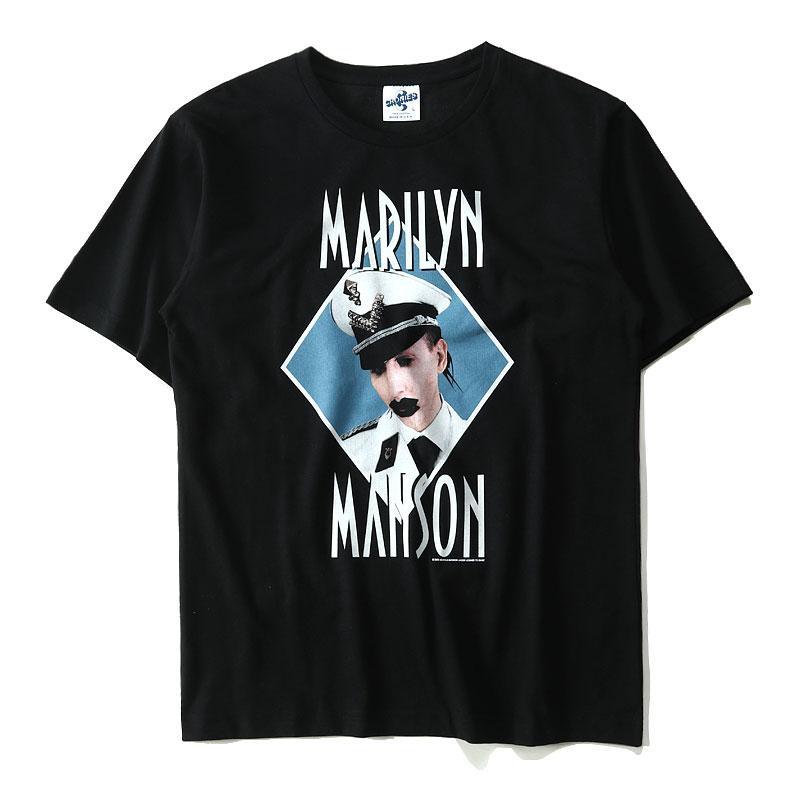 Marilyn Manson Vintage T Shirts Men Women Hip Hop Gothic Shock Rock Heavy  Metal Punk Music Tops Cotton Short Sleeve Tee Shirts Awesome Shirts Cool T  Shirts ...
