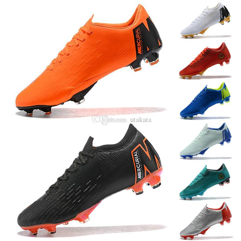 6d3fa042b2d9 Desktop Assassin 12 Mercurial Superfly VI 360 Elite Football Boots Vapor  XII Pro FG Waterproof Low TOP Quality 2018 Soccer Shoes Mercurial Superfly  Soccer ...