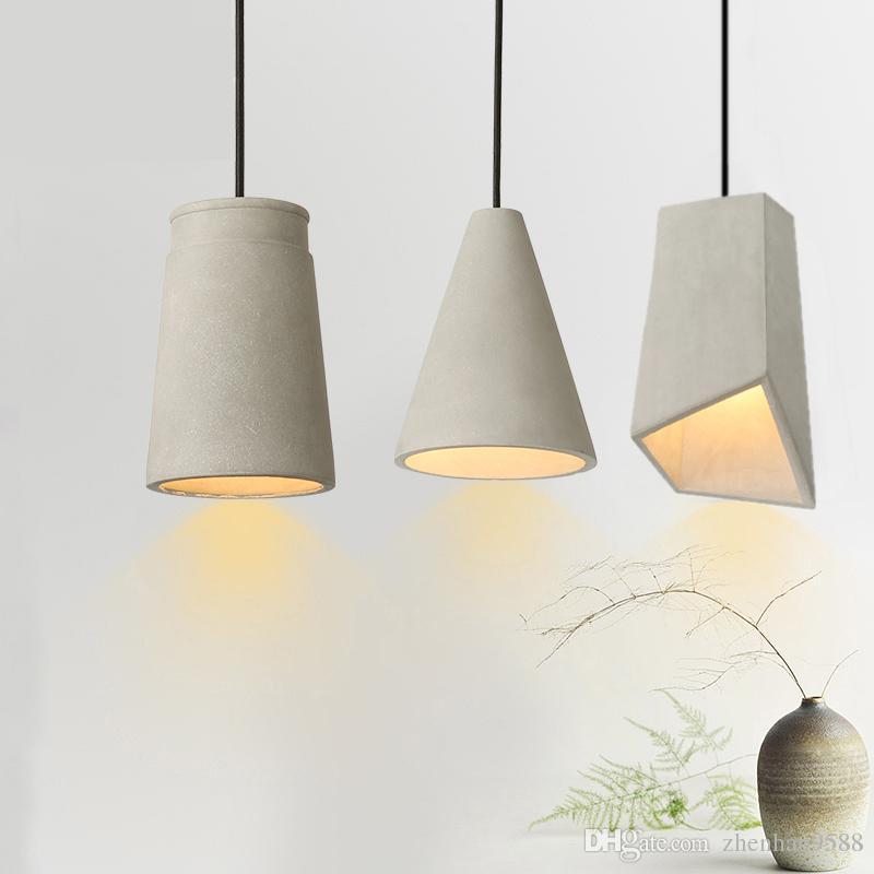 gro handel d nische design dachboden beton pendelleuchte schlafzimmer nachttischlampe lampe. Black Bedroom Furniture Sets. Home Design Ideas