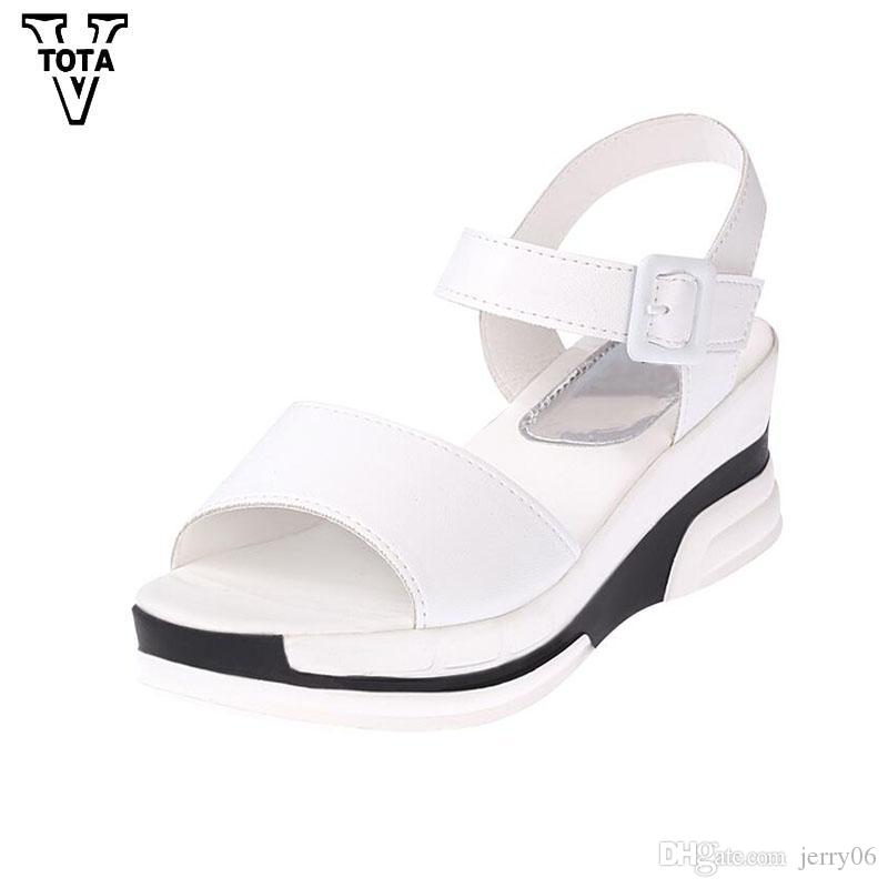 44a741c94032 Fashion Platform Sandals Women Summer Shoes Leather Casual Shoes Open Toe  Gladiator Wedges Trifle Mujer Women Shoes Online with  16.69 Piece on  Jerry06 s ...