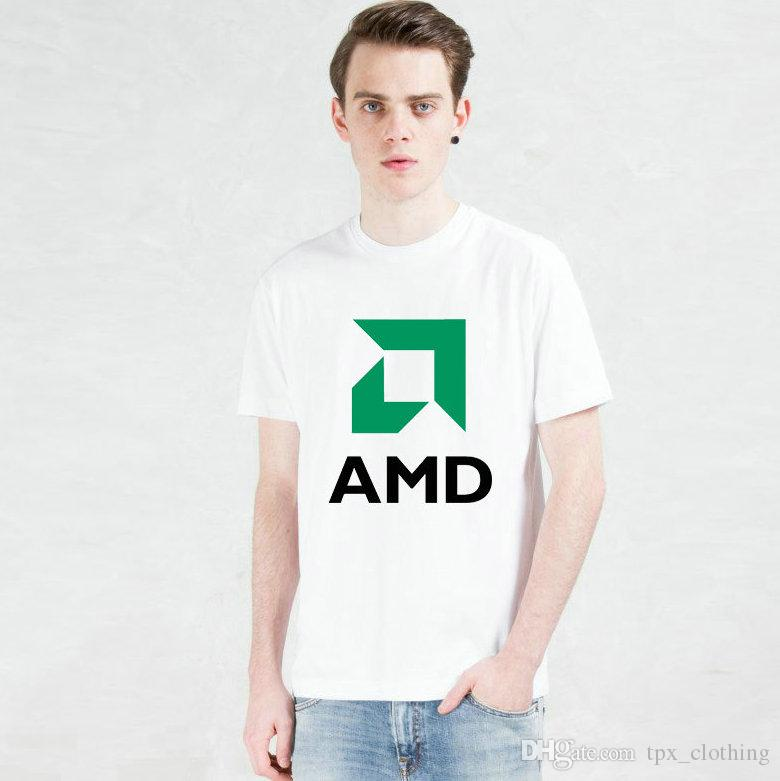Amd cpu t shirt Advanced micro devices short sleeve gown Cool company tees  Unisex clothing Quality modal Tshirt