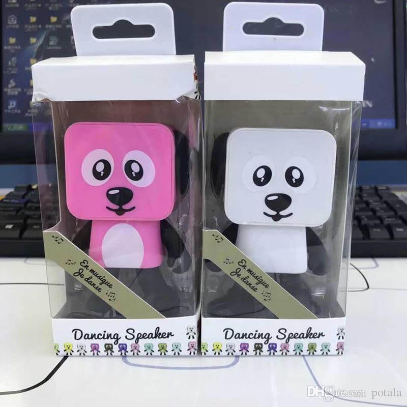 Haut-parleur Bluetooth Walking Dancing Robots brinquedos jouets pour enfants Mini Cubic Puppy Dog Robot RC Ligne de Contrôle À Distance électrique turbo Figurine