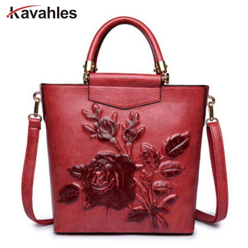 b7f927e5ab27 Designer Leather Hobo Bucket Bags Large Embroidery Embossing Printing Retro  Floral Handbag Luxury Tote Bag High Quality PP 1074 Purses Designer Handbags  ...