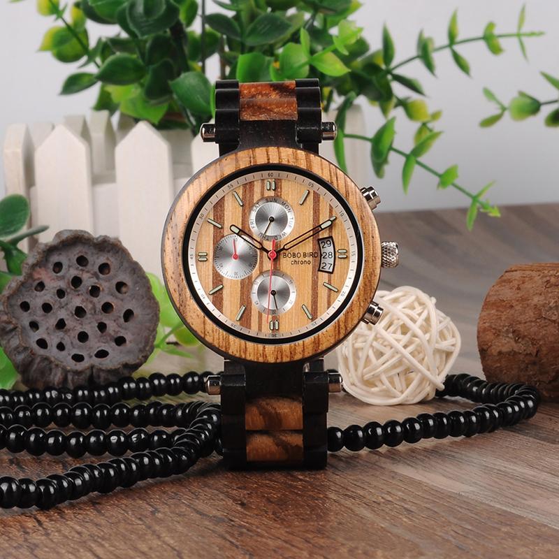Großhandel Relogio Marke Bobo Bird Multifunktions Holzband Uhren ...