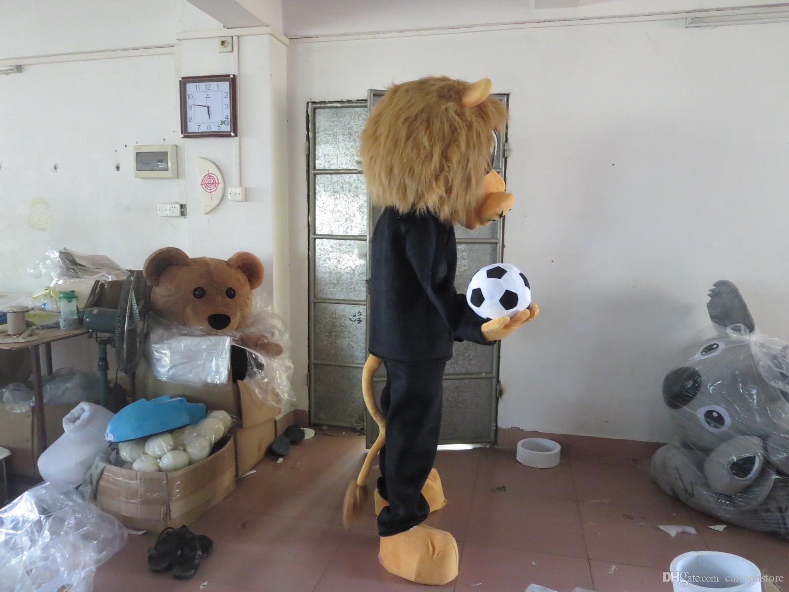Quality Cartoon Lion Party Costume xmas Boy / Girl Lion Mascot Outfit Halloween Chirastmas Party Fancy Dress Mascot Costumes