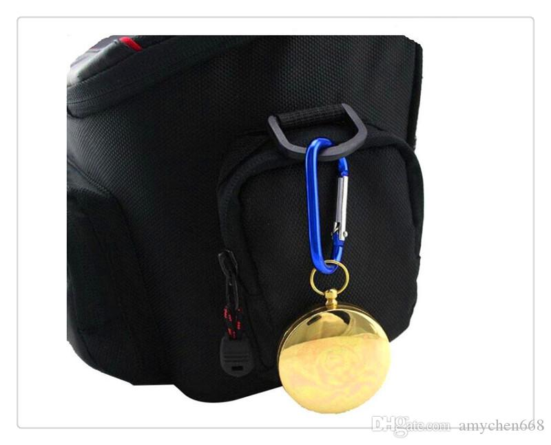Nützliche Outdoor Sports Camping Wandern Tragbare Messing Tasche Golden Multifunktions Fluoreszenz Kompass Navigation Camping Werkzeuge