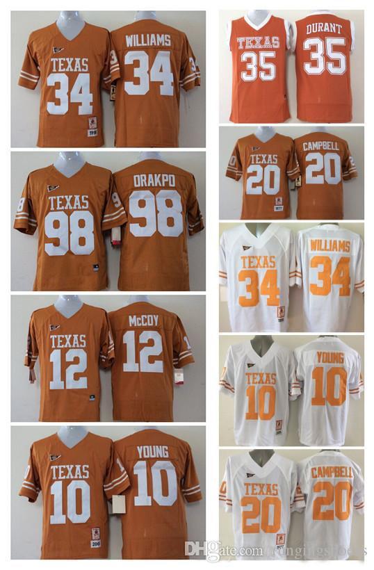 Sport Men Shirt 10 Vince YOUNG 12 Colt McCoy 34 Connor Williams 35 ... 701f518d3