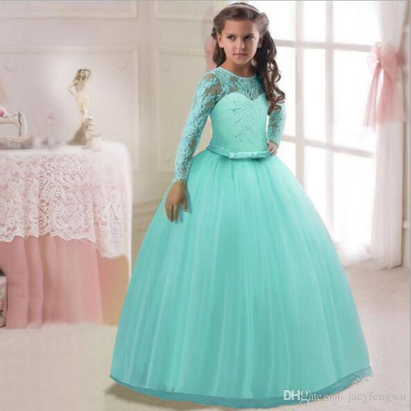 b26d6cb6d50a 2019 Baby Girls Princess Dresses Clothes Girls Show Skirt Girl Dance ...