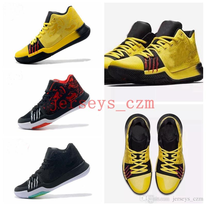 2018 2018 kyrie 3 bruce lee samurai black ice ivory cool grey white multicolor mens basketball shoes black gold christmas sneakers from jerseys czm
