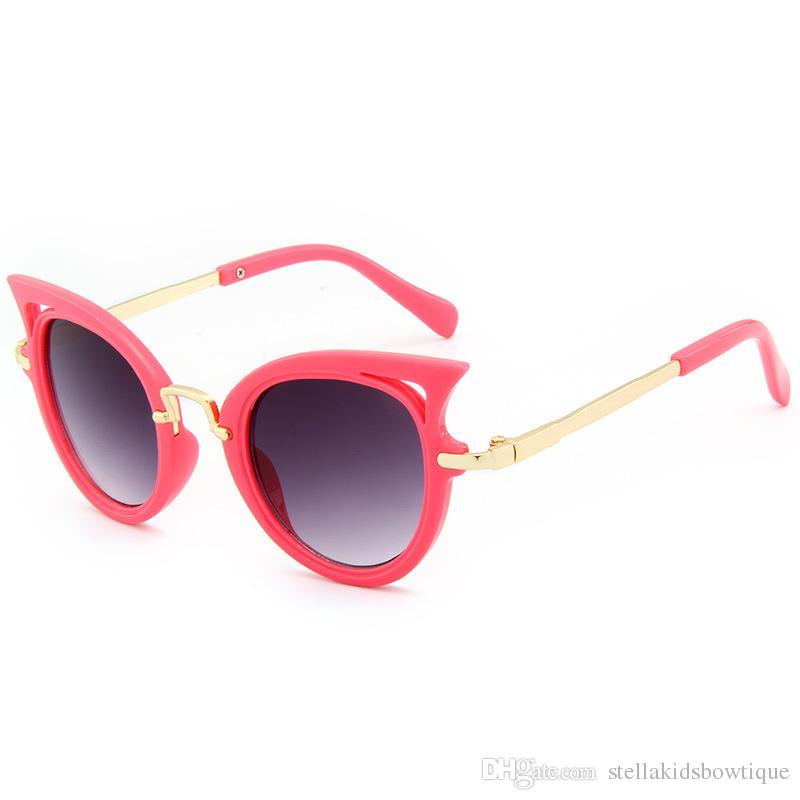 Cat Eye Kids Sunglasses Boy Girl Fashion Sun Glasses Summer Beach Accessories Children Classic Sunglasses Free Shipment