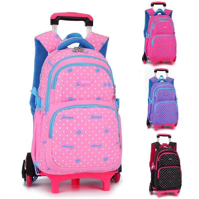 bd4eb9019a5 Compre Mochila Para Equipaje De Viaje Para Niños Mochilas Con Ruedas Para  Niñas Y Niños Para Shcool Kids Rolling Bag School A  46.2 Del Wnimom4454