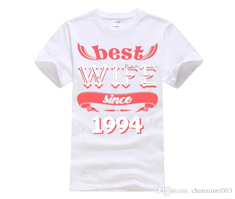 Best Wife Since 1994 T-Shirt. 23rd Wedding Anniversary Ideas Fashion Brand  Harajuku Hipster Female T-Shirt Western Style