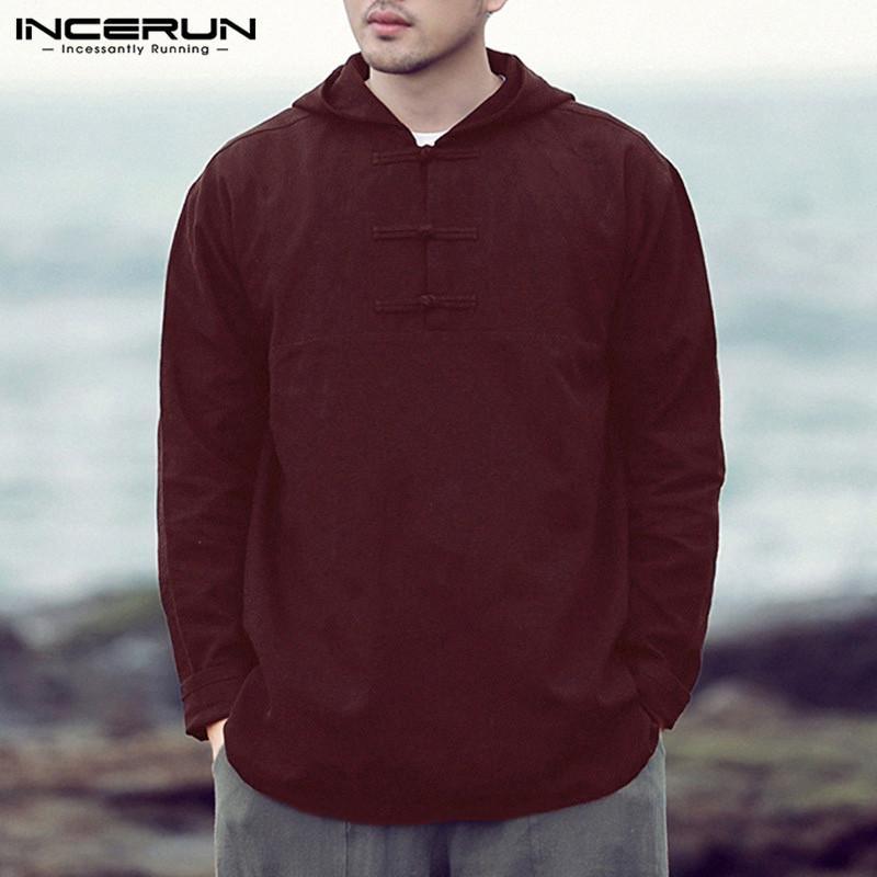 d6c07eafefa INCERUN Brand Men s Tshirts Long Sleeve Tee Hiphop Joggers Cotton ...