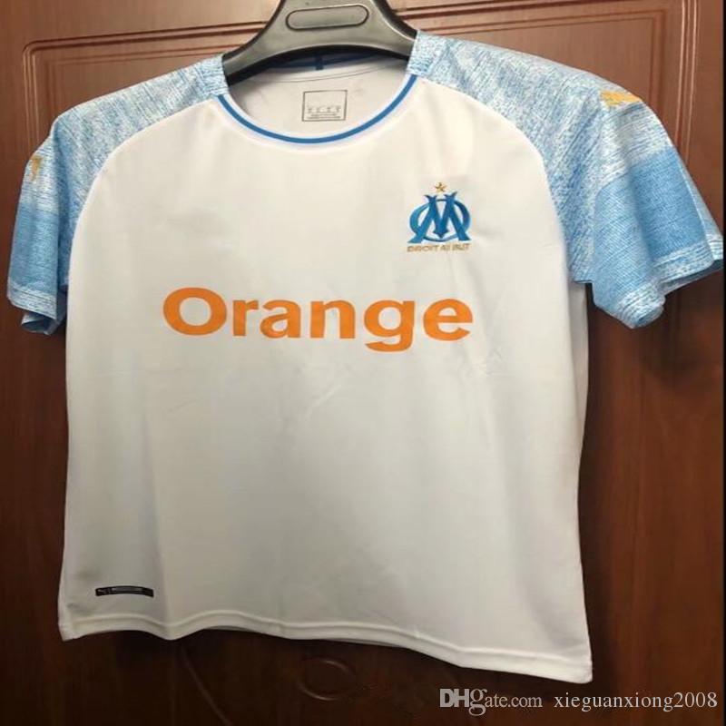 new arrival f677f c6e95 Season Olympique de Marseille football jersey 2018 Marseilles Batshuayi  LASS soccer jerseys 18/19 away black shirts Cabella soccer jersey