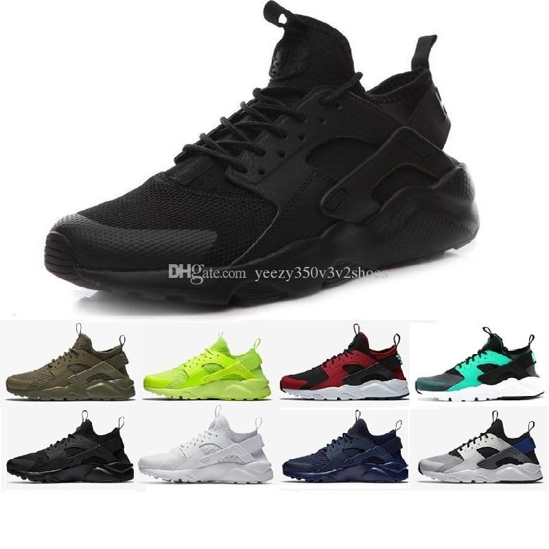 2017 Men Women Casual Shoes Air Huarache Cheap Training Shoes Original Hot Sale Outdoor Running Shoes Free Shipping Size EUR 36-45