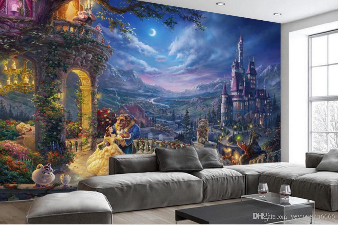 Европейский ретро Гостиная Спальня 3d фон мультфильм замок столовая промышленность украшает фон