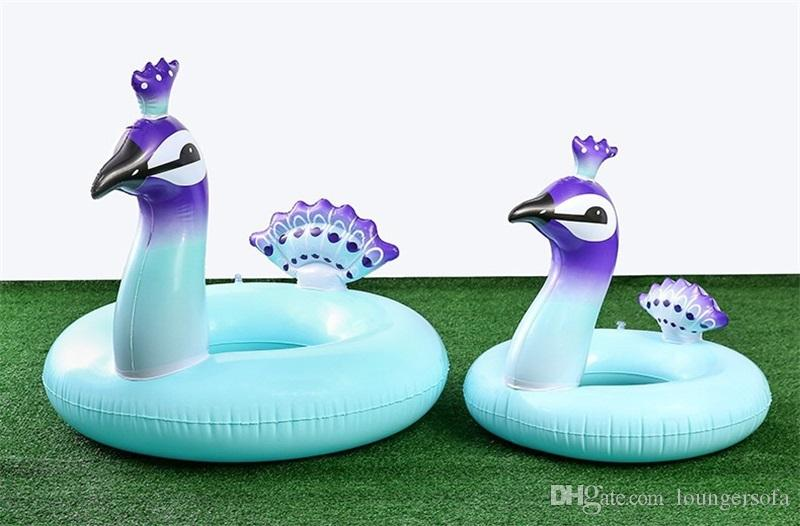 Cartoon Peacock Design Inflatable Tubes Huge Beautiful Birds Swimming Ring Creative Thickened Pool Floating Mat For Beach Water Play 30xr2 Z