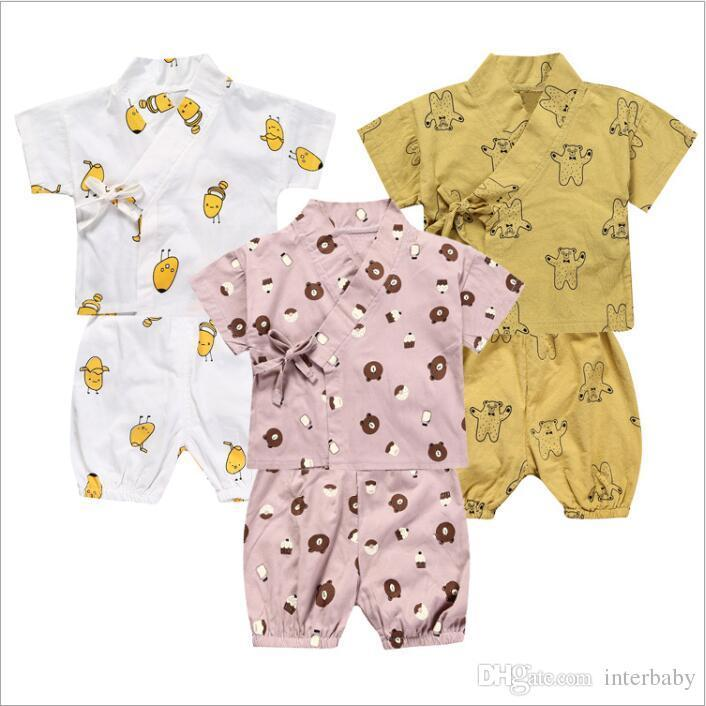 fb59e76a6 Baby Clothes Kids Ins Pajamas Print Fashion Sleepsuits Boys Summer ...