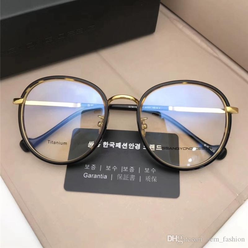 240d9bb67b 2018 New Vintage Round Optical Eyewear Import Titanium Frame Ultralight  Glass Korean Design Fashion Myopia Sunglass Frame With Retail Box Sun  Glasses ...