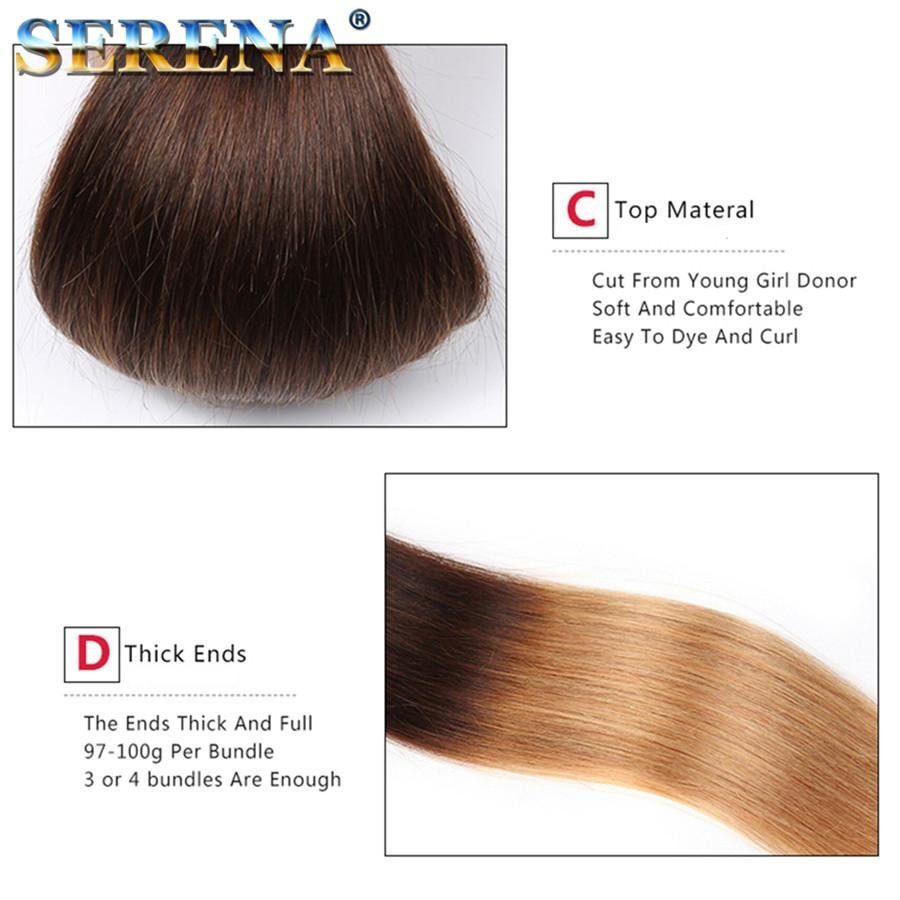 Ombre Brazilian Virgin Hair Straight Three Tone 1B 4 27# Ombre Hairs Cheap Brazilian Human Hair 3 Bundles Straight Hair Extensions
