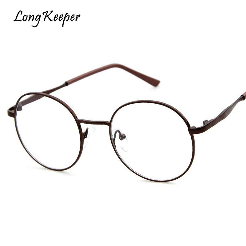 2018 Long Keeper Metal Eyeglasses Fashion Women Oval Glasses Frames ...