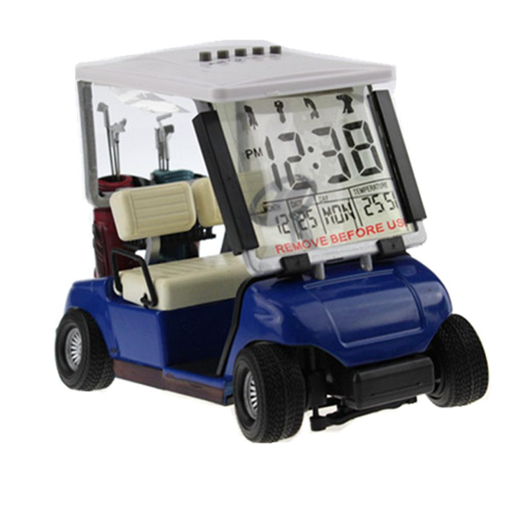 Grosshandel Mini Golf Cart Wecker Lcd Digital Datumsanzeige Perfekte