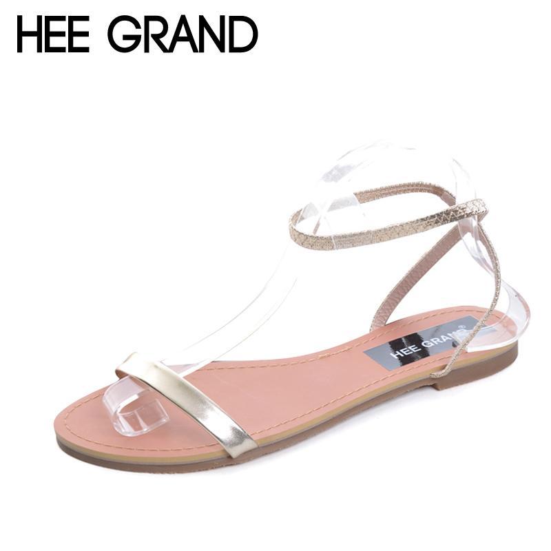 Hee 2017 Frauen Schuhe Neue Sandalen Slip Auf Damen Grand Sommer Knöchelriemen Wohnungen Xwz3702 Strand Lackleder Frau 8nvPmNy0wO
