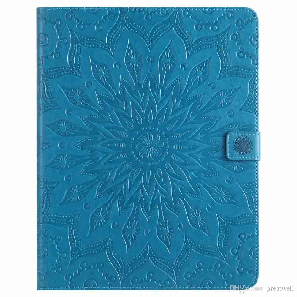 Mandala Flower Sleep Wake UP Flip Wallet Stand PU Leather case for ipad Mini 123 4 New ipad 9.7 2017 2018 234 Air 1/2 Samsung Tablet