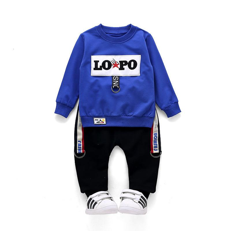 Children Infant Pure Cotton 2018 Fashion Spring Autumn Baby T-shirt Pants 2Pcs/sets Toddler Tracksuit Kids Clothes