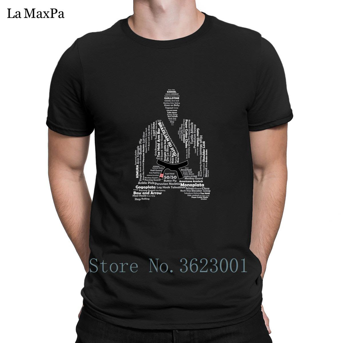 Compre Cool Brazilian Jiu Jitsu Black Belt Meditação Homem T Camisa Luz  Solar Dos Homens T Shirt Da Marca Tshirt Para Homens Gola Redonda Aptidão  De ... 3e91e7ac0fc75
