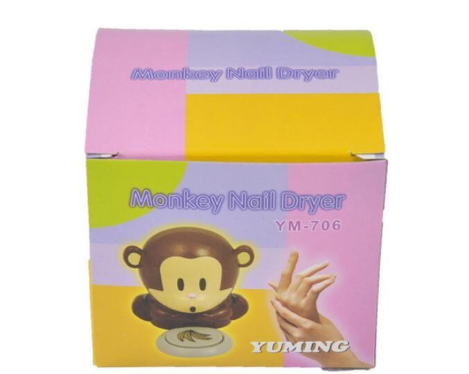 Sevimli Mini Karikatür Maymun Tırnak Kurutucu El Parmak Toe Nail Art Jel İpucu Lehçe Kurutma Blower Fan Hava Kurutucu Nail Art Araçları