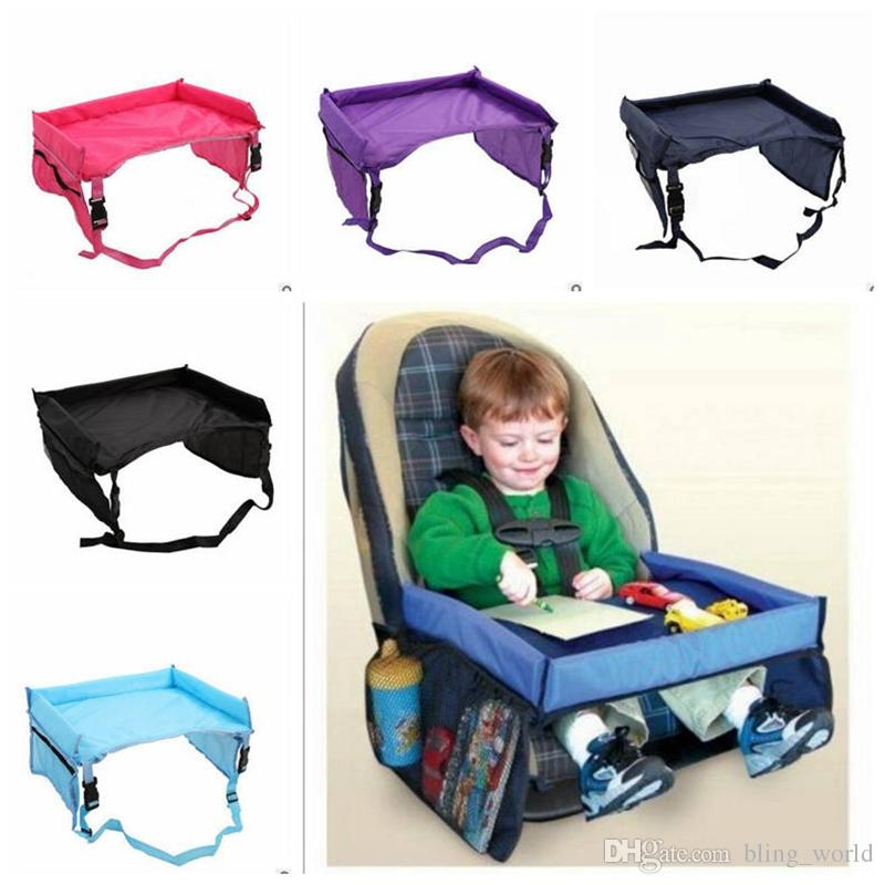 2018 Kids Snack Play Travel Tray Baby Toddlers Car Seat Cover Waterproof Folding Table Infant Harness Buggy Pushchair YL557 From Bling World