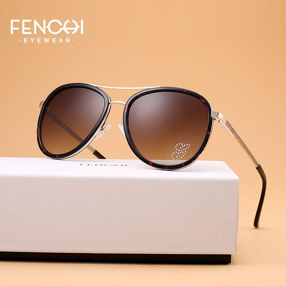 8303072277 X FENCHI Sunglasses Women Driving Pilot Classic Fashion Sunglasses High  Quality Metal Brand Designer Diamonds Round Glasses Online Eyeglasses  Discount ...
