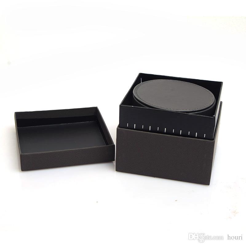 جودة عالية مستديرة ساعات صناديق جلدية هدية مربع الجلود ووتش مربع رجل الساعات مربع مربعات صناديق الحالات مربع صناديق أعلى جودة